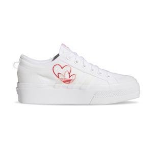 adidas Nizza Platform W Ftwr White/Vivid Red/Gum M2 biele FX9179 - vyskúšajte osobne v obchode