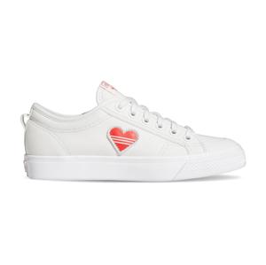 adidas Nizza Trefoil W Crystal White/Red/Ftwr White biele H02542 - vyskúšajte osobne v obchode