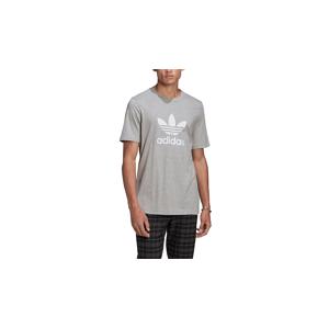 adidas Trefoil Tee Medium Grey Heather/White šedé GN3465 - vyskúšajte osobne v obchode