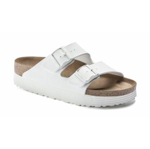 Birkenstock Arizona Grooved BF White Vegan Narrow Fit biele 1018581 - vyskúšajte osobne v obchode