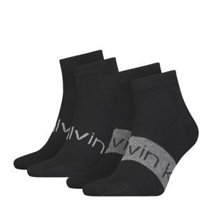CALVIN KLEIN - 2PACK Intense power čierne členkové ponožky-43-46