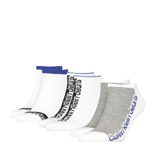 CALVIN KLEIN - 3PACK CK jeans athleisure white combo členkové ponožky-UNI