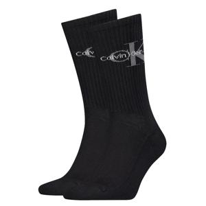 CALVIN KLEIN - CK jeans rib black pánske ponožky s logom -UNI