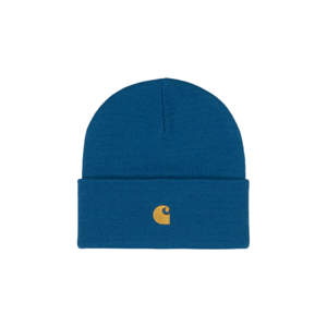 Carhartt WIP Chase Beanie Skydive / Gold-One-size tyrkysové I026222_0JK_XX-One-size