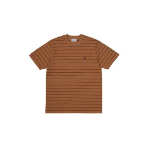 Carhartt WIP S/S Denton T-Shirt Black hnedé I028925_0AB_90 - vyskúšajte osobne v obchode