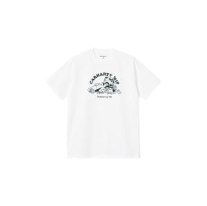 Carhartt WIP S/S Flat Fire T-Shirt biele I029931_02_90 - vyskúšajte osobne v obchode