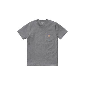Carhartt WIP S/S Pocket T-Shirt Dark Grey Heather-S šedé I022091_ZM_XX-S