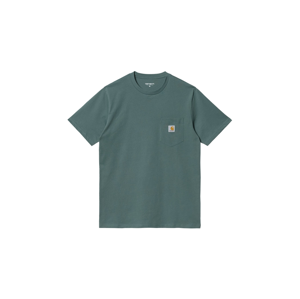 Carhartt WIP S/S Pocket T-Shirt Eucalyptus-M zelené I022091_0ER_XX-M