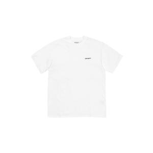 Carhartt WIP S/S Script Embroidery T-Shirt White biele I025778_02_90 - vyskúšajte osobne v obchode