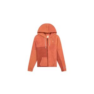 Champion Patchwork Velour Fleece ZIP-UP Hoodie oranžové 113506-F20-RS045 - vyskúšajte osobne v obchode