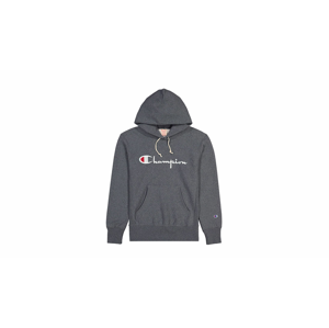 Champion Script Logo Reverse Weave Hoodie šedé 212574-EM519 - vyskúšajte osobne v obchode