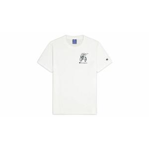 Champion Street Sports Graphic T-Shirt biele 214346_S20_WW001 - vyskúšajte osobne v obchode