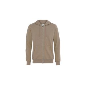 Colorful Standard Classic Organic Zip Hood svetlohnedé CS1007-DK - vyskúšajte osobne v obchode