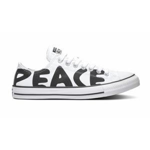 Converse Chuck Taylor All Star Peace Powered Lo White biele 167894C - vyskúšajte osobne v obchode