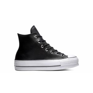 Converse Chuck Taylor All Star Platform Leather High-Top čierne 561675C