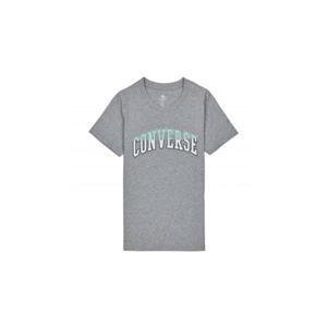 Converse Twisted Varsity Pattern Classic T-Shirt šedé 10018431-A01 - vyskúšajte osobne v obchode