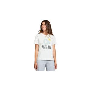 Dedicated T-shirt Mysen All We Have Off-White biele 18310 - vyskúšajte osobne v obchode