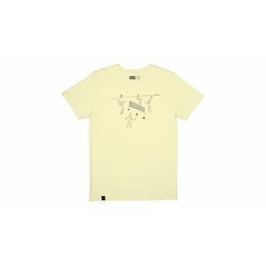 Dedicated T-shirt Stockholm Badminton Pale Yellow žlté 16623