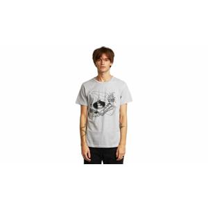 Dedicated T-shirt Stockholm Coffee Vinyl Grey Melange-M šedé 18018-M