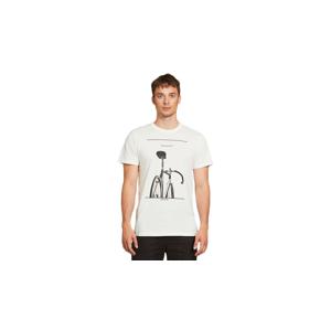 Dedicated T-shirt Stockholm Simplicity Bike Off-White biele 18281 - vyskúšajte osobne v obchode