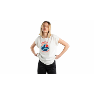 Dedicated T-shirt Visby Happiness Off-White biele 17659