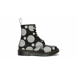 Dr. Martens 1460 Polka Dot Smooth Leather Boots-6 čierne DM26876009-6