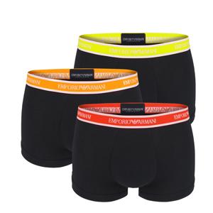 EMPORIO ARMANI - 3PACK cotton stretch nero colore boxerky - limited edition-XXL (98-102 cm)