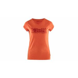 Fjällräven Logo stamp t-shirt W-M oranžové F89982-524-M
