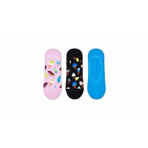 Happy Socks 3-Pack Ice Cream Liner Sock čierne ICE18-3300