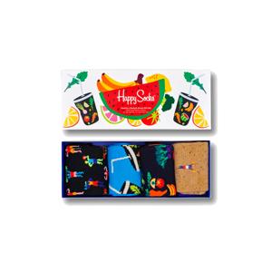 Happy Socks 4-Pack Healthy Lifestyle Socks Gift Set-S-M (36-40) farebné XHEL09-0200-S-M (36-40)