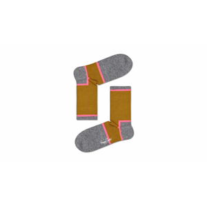 Happy Socks Graphic 3/4 Crew Sock-M-L (41-46) šedé ATGRA14-7300-M-L (41-46)