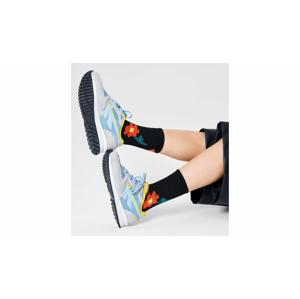 Happy Socks Pixle Flower 3/4 Crew Sock čierne ATPIF14-9300