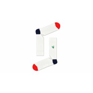 Happy Socks Ribb Embroidery Cat Sock biele RECAT01-1000 - vyskúšajte osobne v obchode