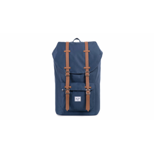 Herschel Supply Little America Navy Tan Synthetic Leather-One-size modré 10014-00007-OS-One-size