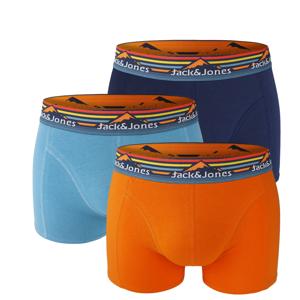 JACK & JONES - 3PACK Jack Mountain boxerky z organickej bavlny-S (76-81 cm)