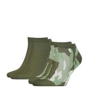 LEVI`S - 2PACK Levi`s army green camouflage členkové ponožky-43-46