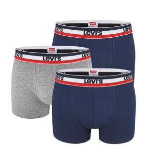 LEVI`S -  3PACK Levi`s super soft cotton stretch navy boxerky z organickej bavlny  -M (82 - 88 cm)