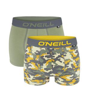 O'NEILL - 2PACK army green camo boxerky z organickej bavlny-M (82-88 cm)