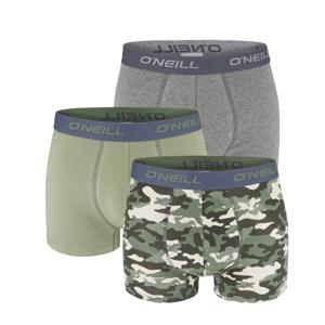 O'NEILL - 3PACK camo army green & gray boxerky z organickej bavlny-L (89 - 95 cm)
