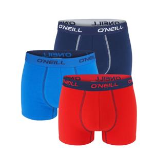 O'NEILL - 3PACK red & blue navy boxerky z organickej bavlny-XL (96-102 cm)