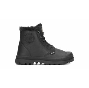 Palladium Pampa Hi Leather Zip WL Kids-30 čierne 56032-010-M-30