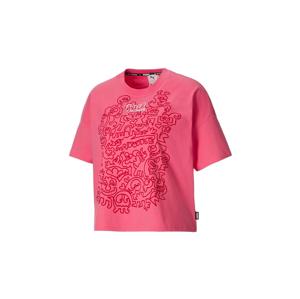 Puma x Mr Doodle Women´s Loose Tee ružové 530659-81 - vyskúšajte osobne v obchode