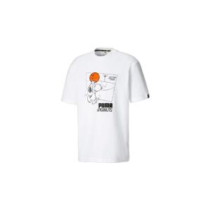 Puma x Peanuts Man´s Tee biele 530616-02 - vyskúšajte osobne v obchode