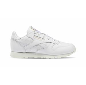 Reebok Classic Leather Kids White Chalk Gold biele DV9623 - vyskúšajte osobne v obchode