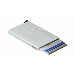Secrid Cardprotector Laser Logo Brushed silver šedé CLa-Logo-brushed-Silver - vyskúšajte osobne v obchode