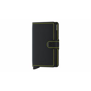 Secrid Miniwallet Matte Black & Yellow čierne MM-Black-Yellow - vyskúšajte osobne v obchode