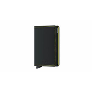 Secrid Slimwallet Matte Black & Yellow čierne SM-Black-Yellow - vyskúšajte osobne v obchode