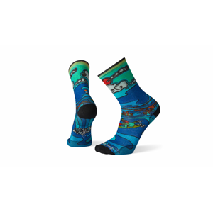 Smartwool Curated Lift Service Crew Socks modré SW004022150 - vyskúšajte osobne v obchode