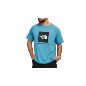 The North Face M Ss Rag Red Box Tee tyrkysové NF0A3BQO4Y3