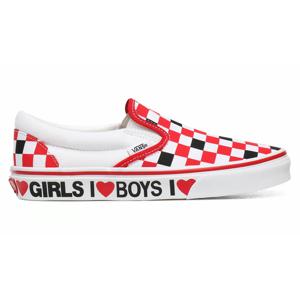 Vans Ua Classic Slip-On (I Heart)Black/True White červené VN0A4U38WKU - vyskúšajte osobne v obchode